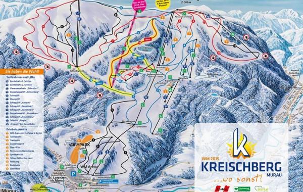 Kreischberg, ski map