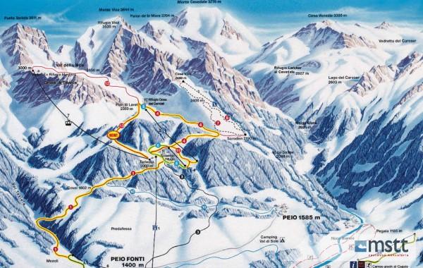 Pejo 3000 ski map