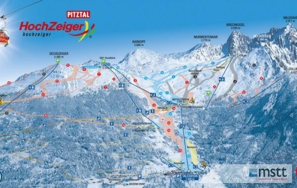 Hochzeiger ski map