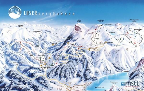 Loser ski map