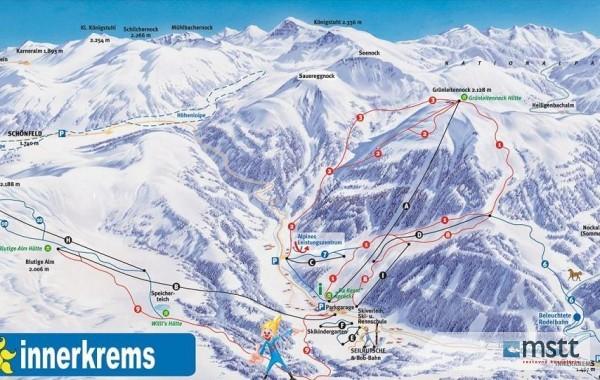 Innerkrems ski map