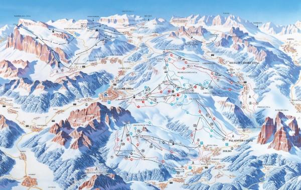 Arabba-Marmolada-Civetta ski map