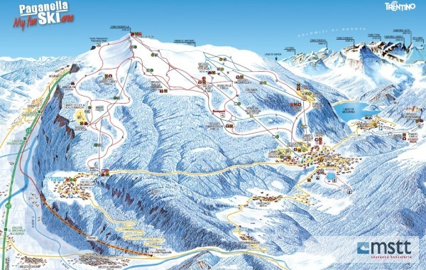 ski map Paganella