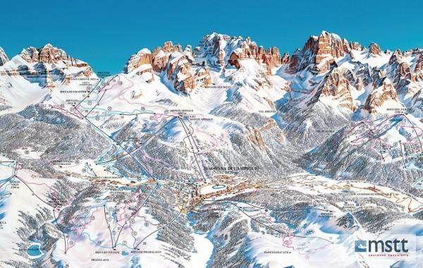 Madonna di Campiglio ski map