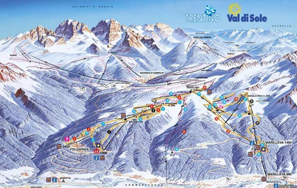 Folgarida Marilleva ski map