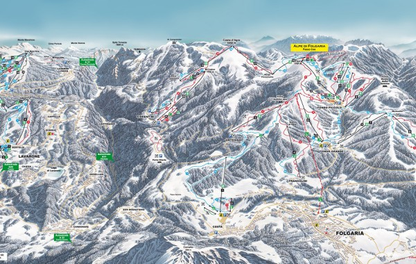 Folgaria-Lavarone ski map