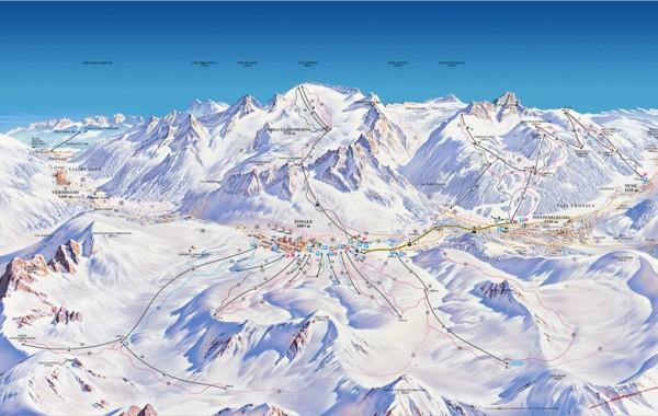 Passo Tonale ski map