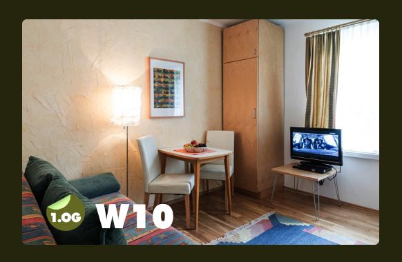 Wohnküche mit Ausziehbett für 2 Personen