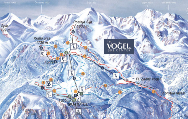 Vogel ski map
