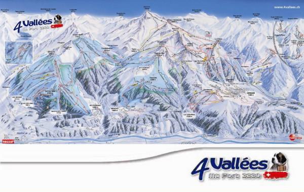 4 Vallés - ski map