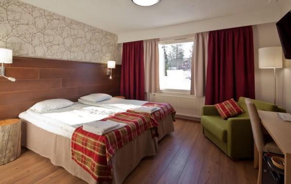 Sirkantähti hotel, Levi, Fínsko - dvojlôžková izba