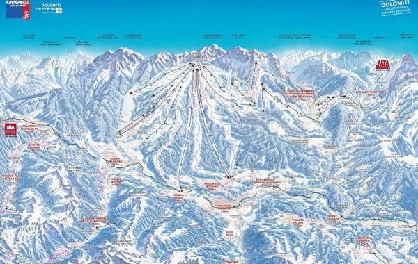 Kronplatz, ski mapa