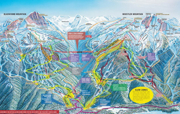 Whistler Blackcomb ski map