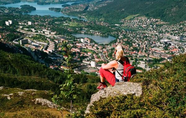 Bergen vyhlídka z Ulriken-Zítková