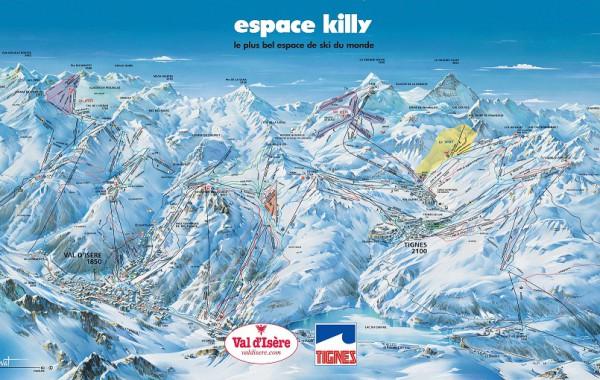 Tignes - Espace Killy ski map