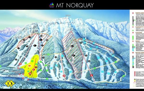 Mount Norquay, skimap