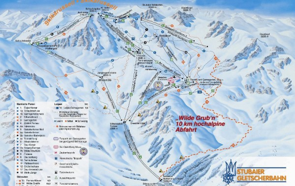 Stubai ski map