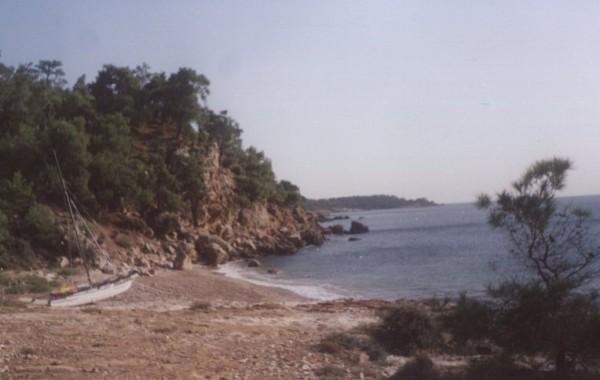 Pláž ca 50m od Apartmánov, Astris, Thassos