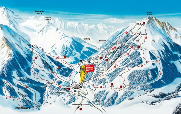 Präbichl ski map