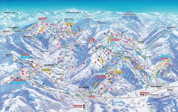 Kitzbühel - Mittersill ski map