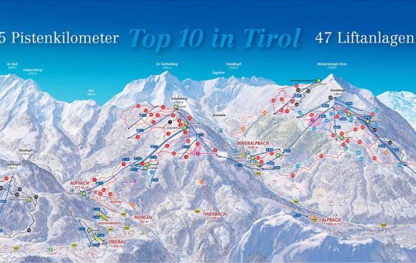 ski juwel alpbachtal - wildschönau ski map