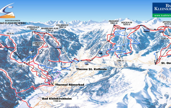 Bad Kleinkirchheim ski map