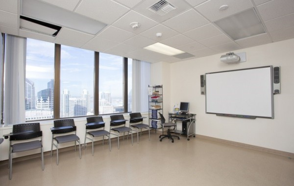 A classroom at the San Diego Embassy school.