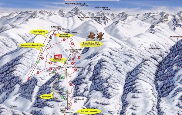 Ski Galsterberg, ski mapka, Schladming Dachstein