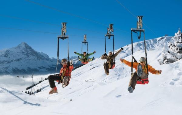Jungfrau ski region, Wengen-Grindelwald-Murren-Interlaken-Schilthorn-First