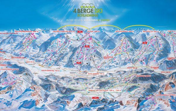 ski map Schladming-Dachstein 2020